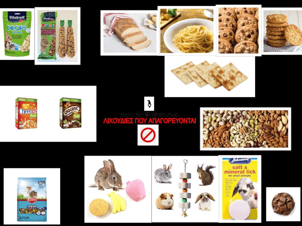 Απαγορευτικές και επικίνδυνες τροφές για κουνέλια.